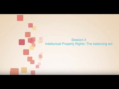 Session 3- Intellectual Property Rights: The balancing act